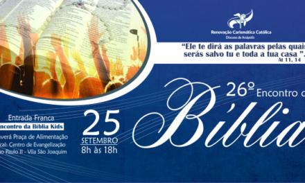 26ª Edição do Encontro da Bíblia da Diocese de Anápolis-GO, participe!