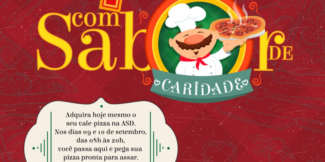 PIZZA COM SABOR DE CARIDADE