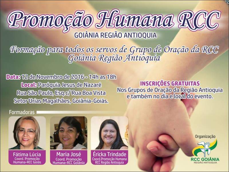 Formação para Promoção Humana – RCC Goiânia