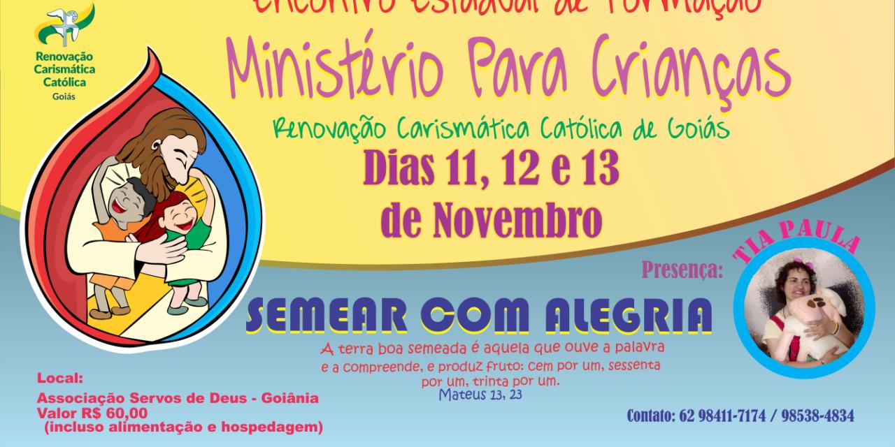 Encontro Estadual de Formação para Ministério para Crianças e Adolescentes